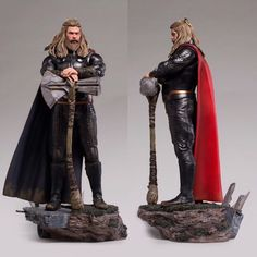 Please swipe for more images...NOW AVAILABLE TO PRE ORDER! The newly announced 1/4 scale Thor statue from the @avengers Endgame movie by Iron Studios is now available to pre order via the @ironstudios website or @sideshowcollectibles website and will retail at $760.00 So Thor is based on the likeness of actor @chrishemsworth and features 2 interchangeable left arms (one holding Mjolnir) as seen in the pics After ordering Captain America last week heres your chance to add this awesome movi Thor Costume, Thor Cosplay, Cosplay Diy, Marvel Dc Comics, Marvel Heroes, Marvel Avengers, Avengers Comic Books, Gi Joe, Zbrush