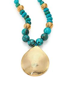 Nest - Turquoise Beaded Pendant Necklace - Available at Saks 5th Avenue