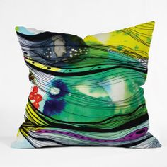 CayenaBlanca Abstract 4 Throw Pillow