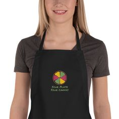 Mom Boss - Mom's Home Cooking Chefs Embroidered Apron Liberty Bag, Embroidered Apron, Black Apron, Chef Apron, Apron Pockets, Kitchen Aprons, Kitchen Towels, Long Ties, How To Squeeze Lemons