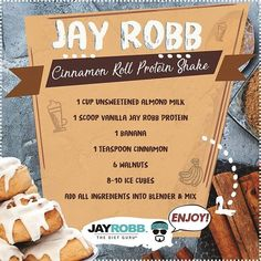 """Jay Robb   The Diet Guru on Instagram: """"Craving a cinnamon roll but want to stay true to your diet? This sweet Cinnamon Roll Protein Shake will satisfy your ..."""
