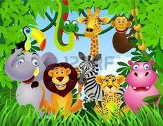 selva caricatura: dibujos animados de animales