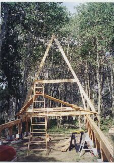 1000 images about home owner built cabin on pinterest for Cabin foundation piers