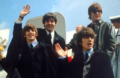 The Beatles take off for a tour in the United States from London.