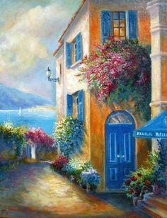 "De Gina Femrite ""old town street"""
