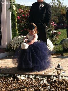 Marina flor vestido de niña por OliviaKateCouture en Etsy