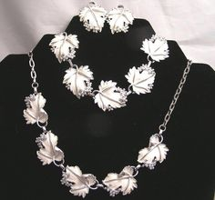 Vintage Sarah Coventry White Leaf Grape Cluster Set by luvintage, $45.00