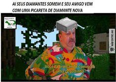 Portuguese Funny, La Mans, Funny Memes, Hilarious, Minecraft Memes, Youtubers, Nerd, Geek Stuff, Chistes