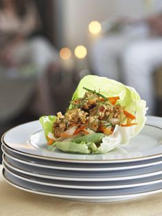 Get the recipe: Stir fried chicken lettuce cups by MCC Chef Wolfgang Puck #culinarycouncil #recipe