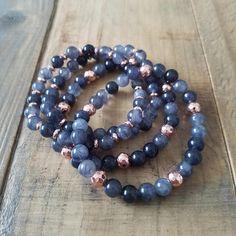 Gemstone Stretch Bracelets Set of 4 Stretch Bracelets