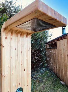 Supra Shower — Heartwood Saunas Outdoor Sauna, Outdoor Decor, Outdoor Ideas, Outdoor Living, Rainforest Shower Head, Gun Rooms, Pool Cleaning, The Great Outdoors, Pergola