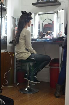 The gorgeous Rikaya Tagoe in hair and make up