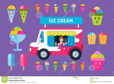 ice cream van menu - Google Search