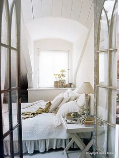 French doors that look like church windows!