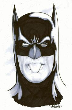 Batman giving you a raspberry. Art by Kevin Maguire