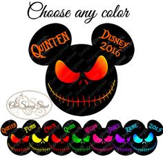 DISNEY MIckey Halloween Jack Skellington Disney Halloween T-shirt Iron On Transfer Disney World Disneyland Disney Vacation Cruise Trip Matching Family shirts
