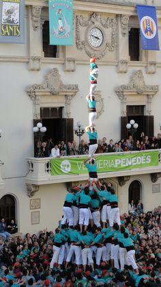 Catalunya, castellers vilafranca, Novembre 2010