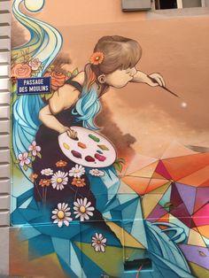 Street Wall Art, Street Mural, Ivan Cruz, School Murals, Tape Art, Street Gallery, Cool Typography, Pallet Painting, Mural Art