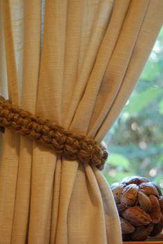 """Size 30/"""" Taupe Conso Crystal Window Curtain Tie Back"""