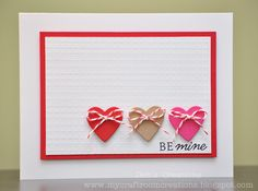My Craftroom Creations: ColourQ redo Hand Made Greeting Cards, Making Greeting Cards, Card Making Inspiration, Making Ideas, Inspiration Cards, Simple Card Designs, Valentines Day Cards Handmade, Some Cards, Scrapbook Cards