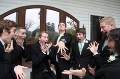 Funny wedding photo with Groom and Groomsmen!