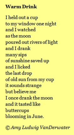 The Poem Farm: Warm Drink - Breathlessness & Wonder.  A fanciful poem to inspire poems about mysterious imaginary beauty, breathlessness, overusing 'and', and writing with little punctuation.  From The Poem Farm, Amy Ludwig VanDerwater's site full of hundreds of poems, poem mini lessons, and poetry ideas for home and classroom - www.poemfarm.amylv.com