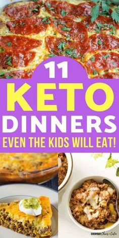 Following the keto diet doesn't mean you have to make multiple meals for your family. Here are 11 Keto Friendly meals that the whole family will love- even the kids!