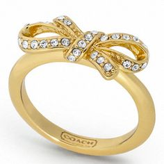 PAVE BOW RING - JEWELRY - The Classic Coach Event