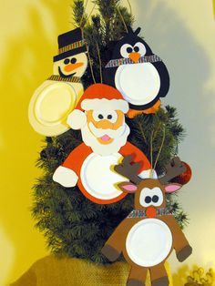 Set of 4 Mason Jar Lid Christmas Ornaments by MyriadofMatthias, $18.99