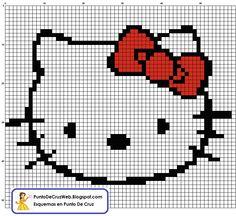 Carita Hello Kitty Punto De Cruz