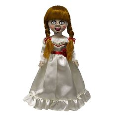 """Mezco are here to please you horror fans out there, bringing you this Annabelle Living Dead Doll! Annabelle stands 10"""" tall and looking like she is about to go scare who ever she likes....maybe even you....but thats if she cant escape the lovely windowed box to show Annabelle off for all you collectors out there. Annabelle is based of the New Horror Film called 'Annabelle', which is based before the time of 'The Conjuring'. So if your game enough to have this fear impaling Living Dead Doll…"""