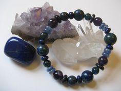 ARCHANGEL MICHAEL Blue-Purple Ray Unisex Bracelet. by AzezCrystals