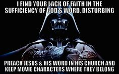 A public service announcement to seeker-driven leaders from Darth Vader.