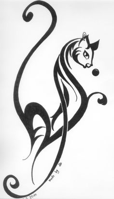 Cat Tattoo Designs | ... Tattoo #8790 Cat Tribal By Cats Hurt Designs Interfaces Tattoo Design