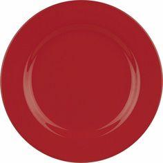 Waechtersbach Fun Factory Ceramic Red Dinner Plates Set Of 4 Dining Decor #Waechtersbach