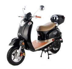 This is the Taotao CY50-B retro styled scooter. It features the great old scooter styling of yesterday with fuel saving technology for a scooter that not only looks beautiful, but also gets over 100 miles per gallon! Familygokarts.com #scooter #ride #adventure #adventureseeker #bike #road #fun #scooters #christmas #christmasgift