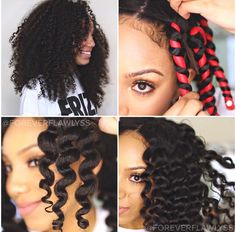 How to use flexi rods on natural and relaxed hairstyles, tutorials for short and long hair, big curls http://www.shorthaircutsforblackwomen.com/flexi-rods-on-natural-hair/