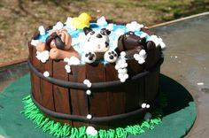 Puppy Bath Tub Bubbles Birthday Cake – Lolos Cakes &amp Sweets cakepins.com