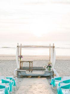 Dreamy Beach Wedding Ceremony | Wedding Photographer available in Ibiza, Mallorca, Menorca, Formentera | Destination Fine Art Film Wedding Photographer