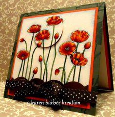POPPY WONDERLAND by Karen B Barber - Cards and Paper Crafts at Splitcoaststampers