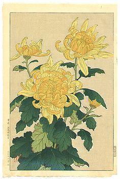 Shodo Kawarazaki 1889-1973 - Yellow Chrysanthemum