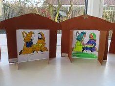 kerststal knutselen met kleuters, kleuteridee.nl , met gratis werkbladen