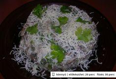 Csirkemájas-gombás paleo karfiol Paleo, Cabbage, Grains, Gluten, Rice, Lunch, Dinner, Vegetables, Food