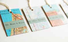 Placeholders  Custom Wedding Escort Map Tags  Eco Friendly by GrannyPantyDesigns, $30.00