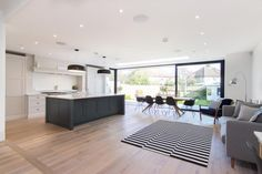 An extension and complete overhaul of a semi-detached house Kitchen Extension Semi Detached, 1930s House Extension, House Extension Plans, House Extension Design, House Design, Conservatory Extension, Extension Ideas, Garden Design, 1930s Semi Detached House