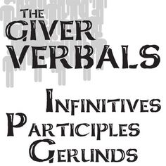 GIVER Verbals (Infinitives, Participles, Gerunds) Activity and PowerPoint… History Classroom, Classroom Resources, Classroom Ideas, 8th Grade English, Reading Resources, Writing Activities, Ccss Ela, 8th Grade Ela, Poetry Unit