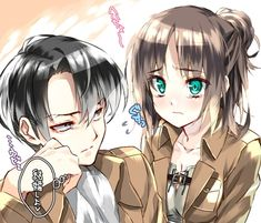 """I was confused why Levi was being so nice to me today.. """" e-err captain..?"""""""