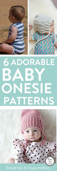 Free baby sewing patterns for baby onesies. We've found six totally gorgeous, easy to make patterns, that each have a tutorial that is easy to follow #BabyPattern #Baby #BabyBoy #BabyGirl #Pregnant #Mumtobe #Momtobe #NewMum #NewMom #Sewing #SewingPatterns #freepatterns