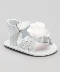 Got these for Eva ~ Take a look at this White Lil Belle Sandal - Infant by Natural Steps on #zulily today!