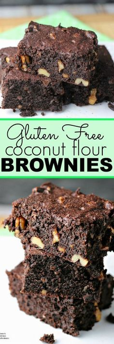 Coconut Flour Brownies | by Renee's Kitchen Adventures - gluten free, grain free, dairy free healthy recipe for brownies